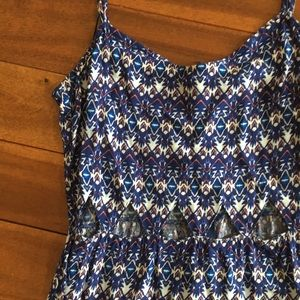 Blue Triangle Cut out Cami dress